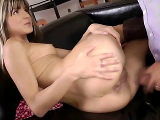 Young british babe fucked by old man