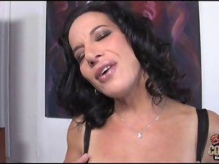 Hot cougar mom Melissa Monet used by big black cock
