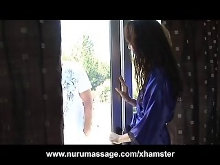 Petite Teen Zoe Voss Nuru Massage and Blowjob