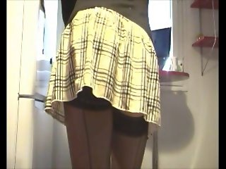 Anal games in seamsed stockings