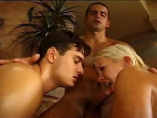 Mmf bisexual threesome party