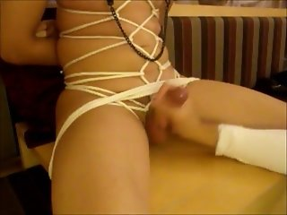 Bound Handjob and Cumshot Training