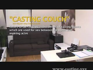 Casting - Bookish babe takes it in the ass