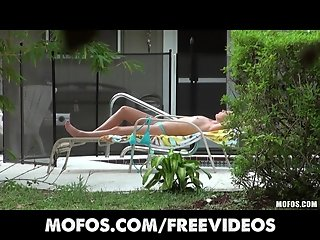 Mofos - Sun-tanning blonde bombshell is massaged & fucked