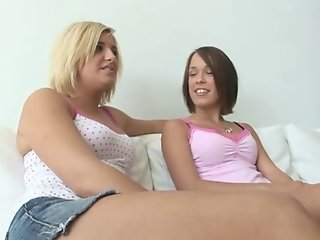 Missy Stone, her teen girlfriends and fat cocks