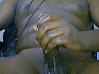 Thick Black Oily Cock FAT CUM LOAD
