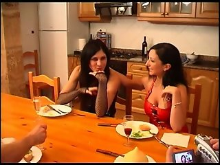 Ana Martin big boobs and Barbara fucked in kitchen A75
