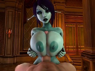 Soria gives a tittyfuck and gets drenched in cum 3D