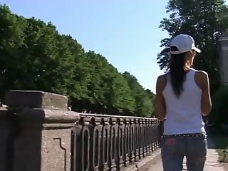 Gorgeous Russian Teen Brunette fucked in her Jeans !