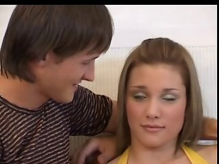 Very Horny Russian Teen Awesome Threesome Fuck