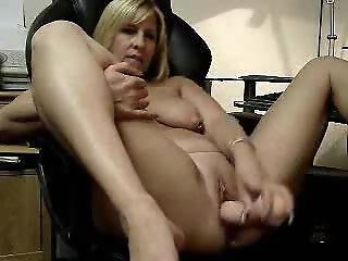 Hot video of my wife masturbating. Amateur mature