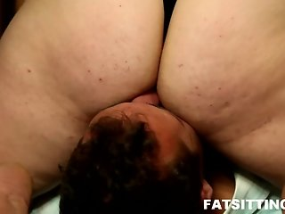 Brutal facesitting and femdom ass worship with bitch Sandra