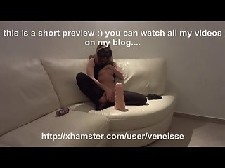 Veneisse extreme anal fisting & double big dildo in pussy