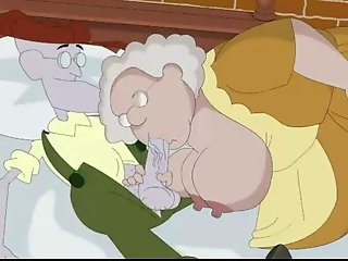 Old people from Courage at cartoon porn