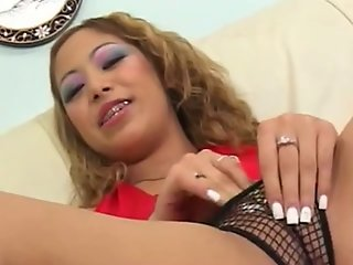 Anal Asian slut Kat riding dick