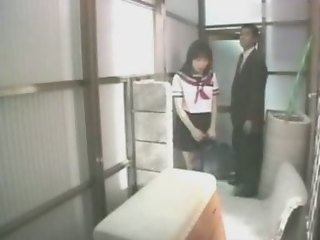 Roleplay, asian schoolgirl blows her teacher (censored)