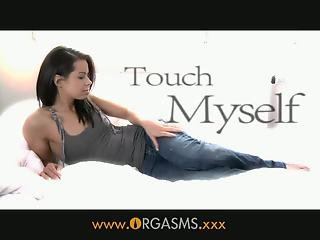 Orgasms - She touches herself for the first time