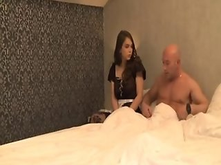French maid Lola Bruna analised by her boss A75