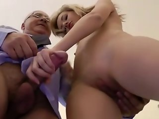 Young babe spoils old mans cock