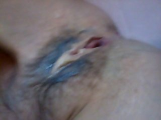 Wife's cum drenched pussy