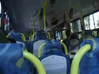 Bus cum, public masturbation 3
