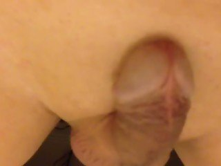 Leaking precum whilst anal toying