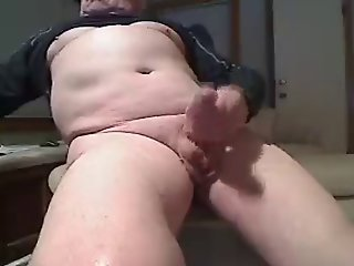 Dads Big Uncut Cock Cums