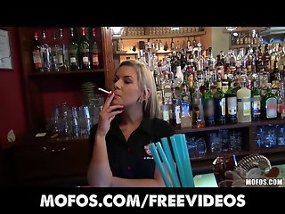 Public Pickups - Gorgeous blonde bartender paid for sex