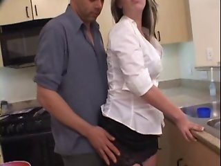 Housewife fucking her neighbor when husband is away