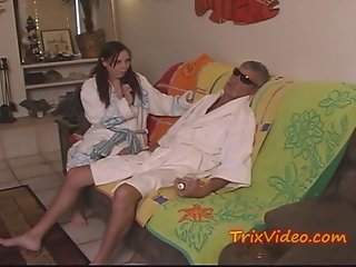 Girlfrind Caught sucking old mans COCK