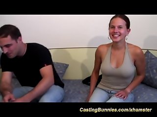 Young busty chicks first anal casting