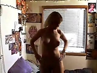 Bored housewife does her first porn.