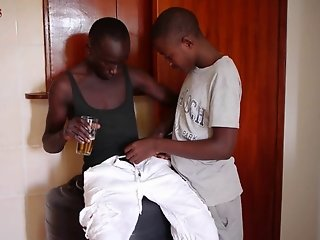 Black African Marvin and Chris on Sucking Action