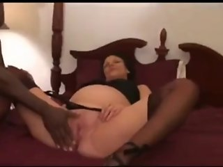 Black bred pregnant wife taking some more creampies