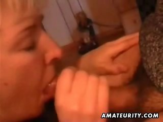 Mature amateur wife home full blowjob with cumshot in mouth