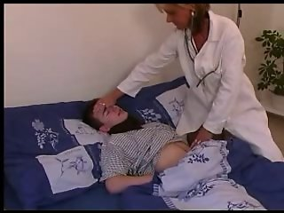 Doctor in White Stockings Treats his Swelling