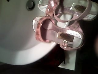Cum in little sister sandals shoes
