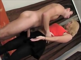 Boy Fucks Hot Blonde Mom