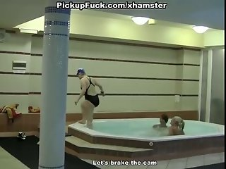 Extreme sex with hot chicks in the aquapark