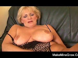 Hot Grandma Play With Her Toy And A Two Young Dick