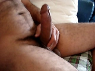 My arab friend play with his cock