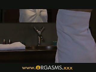 ORGASMS Sexy blonde has sex in bathroom