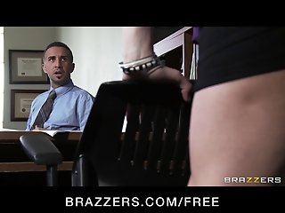 Big-tit brunette slut doctor Ava Addams rides patient's dick