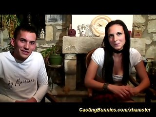 French chicks first anal casting