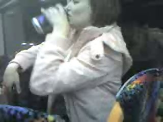 Claire from Livingston flashes tit on Edinburgh bus