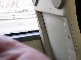 Touching her stockings in a bus