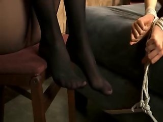 Pantyhose facesitting bdsm
