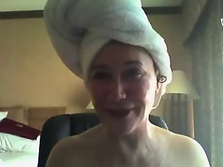 Granny tries Webcam