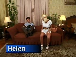 SLUT IN WHITE PLATFORMS GANGBANG HELEN