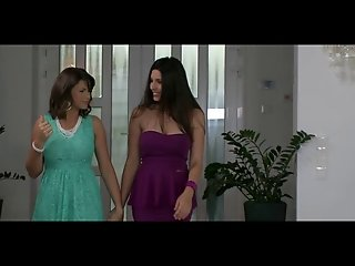 Two Brunettes in Hot Lesbian Action with Dildo